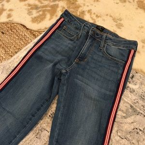 Just Black jeans with side stripe